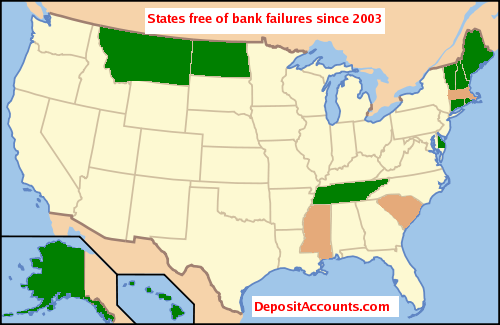 States free of recent bank failures